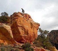 Rock Climbing Photo: Scott after FA