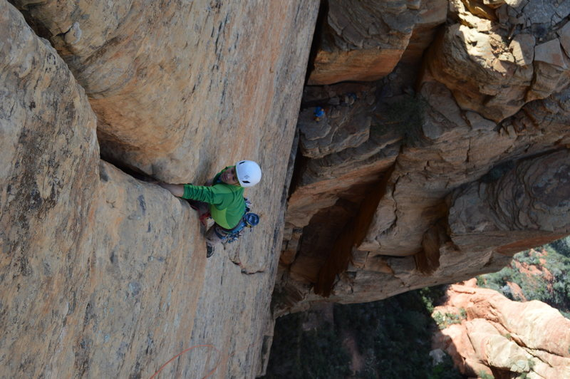 Rock Climbing Photo: We be jammin' all day.  More pitch 3 glory!