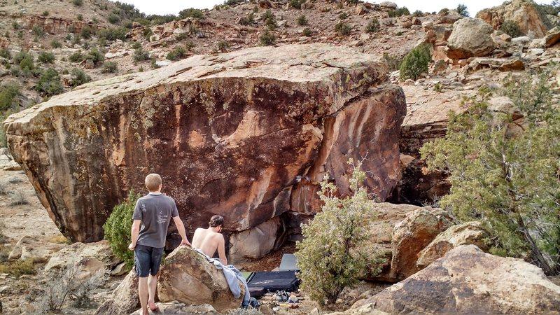 Rock Climbing Photo: Punchdance Boulder.