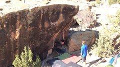 Rock Climbing Photo: The start of Punchdance.