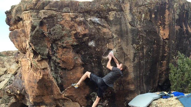 Rock Climbing Photo: Jared starting Dynomosity.
