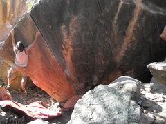 Rock Climbing Photo: myself on lazer cut
