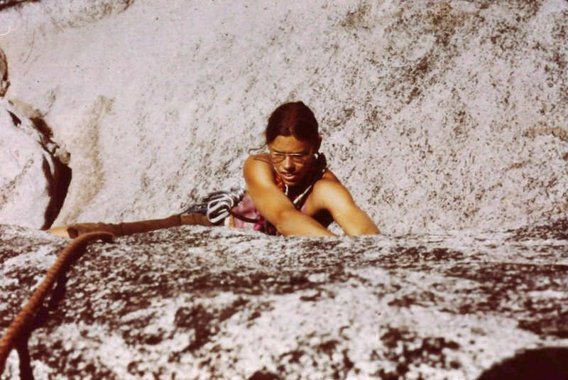 Rock Climbing Photo: Peter Hayes following Mike Jaffe on the crux of &q...