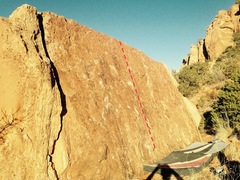 Rock Climbing Photo: Beta for Backwoods Slab.