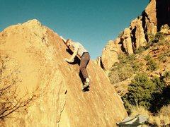 Rock Climbing Photo: Bag nearing the top.