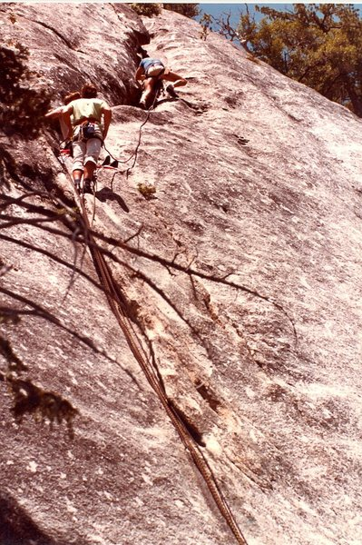 Ron Hayes leading the second pitch of Delila, 1981.