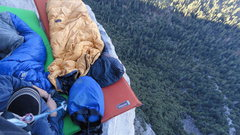 Rock Climbing Photo: The natural bivy accessible from p11