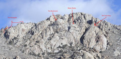 Rock Climbing Photo: Overview of Upper Lone Mtn.