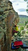 Rock Climbing Photo: Negotiating the early thin feet of Aromantics.