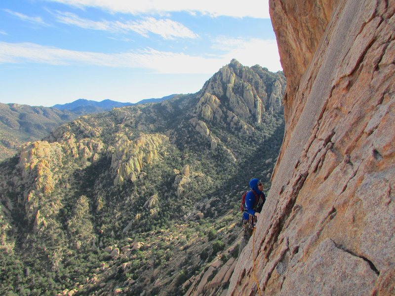 Rock Climbing Photo: Idea of the scenery...this route is out there just...