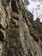 """Rock Climbing Photo: Just after the 4th bolt on """"chicken bone&quot..."""
