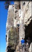 Rock Climbing Photo: Guillotine, 5.9.
