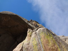 Rock Climbing Photo: The second crux.
