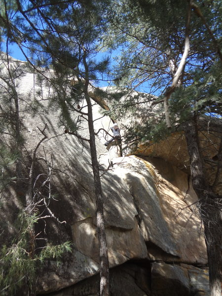 Rock Climbing Photo: OW variation, a few small handsize pieces, a coupl...