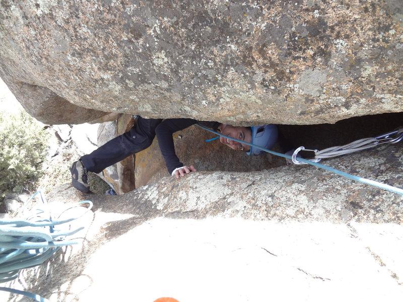 Rock Climbing Photo: The wild exit.