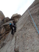 Rock Climbing Photo: The second pitch.  One could easily link the first...