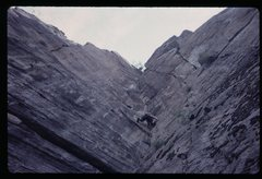Rock Climbing Photo: A difficult climb.  An overhanging fingertip lie b...