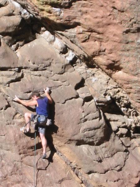 Rock Climbing Photo: 5.9+.