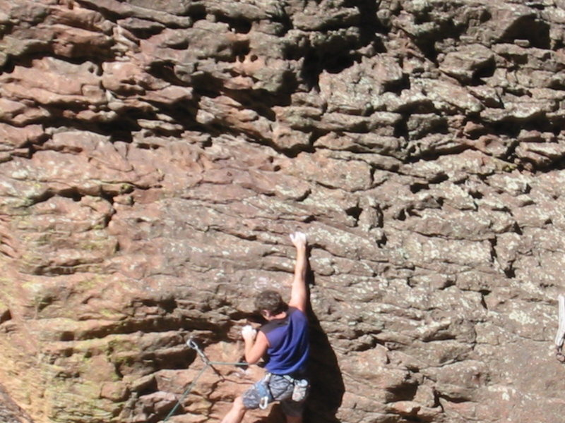 Rock Climbing Photo: Hard to on-sight because you can't see the mini-po...