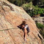 Rock Climbing Photo: Athena Springer following up Garden Party.