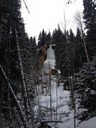 Hidden Falls still has a fair amount of ice left.
