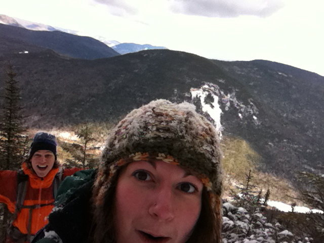 White mountains winter hiking NH