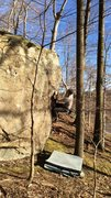 "Rock Climbing Photo: The arête on the ""Black-tooth Boulder"" ..."