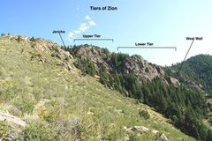 Rock Climbing Photo: The Tiers of Zion from the lower approach trail.