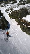 Rock Climbing Photo: Some anonymous skiers from Vermont going down Diag...