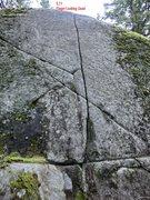 Rock Climbing Photo: Naples Route Locator Far left End