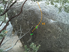 Rock Climbing Photo: Problem D Topo