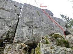 Rock Climbing Photo: Naples Route Locator Main Wall Right Side
