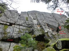 Rock Climbing Photo: Center and right of main wall