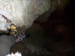 Rock Climbing Photo: Captain Caveman by night. Starting up pitch 3.