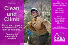Help clean up Mt. Lemmon, and then go climbing!