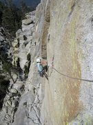 Rock Climbing Photo: Eriko on the namesake traverse.