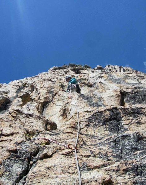 Rock Climbing Photo: Eriko leading the super fun furrows pitch.