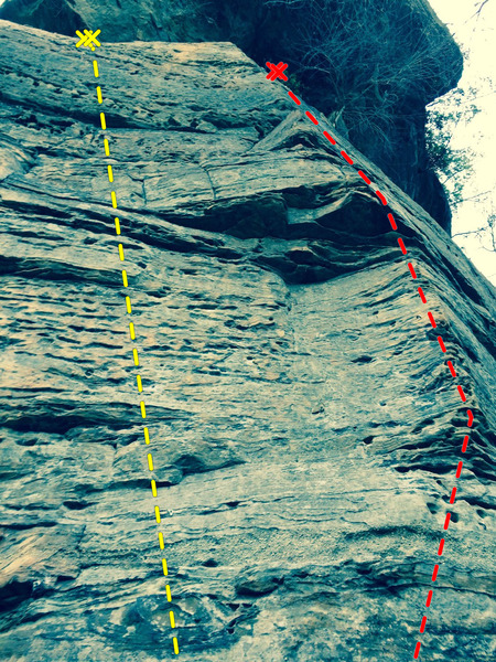 Rock Climbing Photo: The camp store crag. Camp is on the left, store on...
