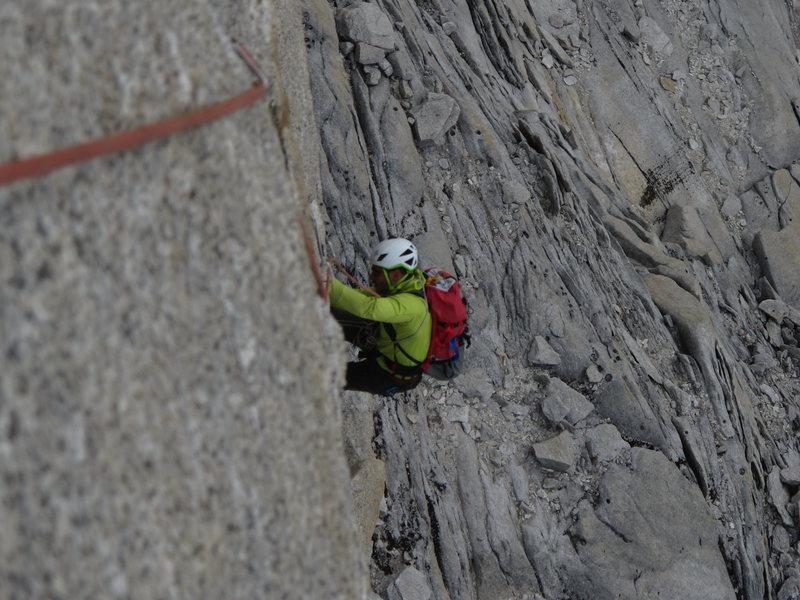 Rock Climbing Photo: El Mocho Pitch 5 Crux