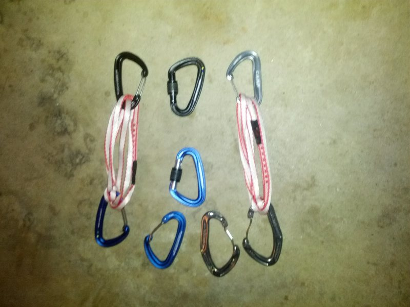 Rock Climbing Photo: Options to help keep carabiner from unclipping.