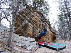 "Rock Climbing Photo: Chris Parker on ""The Font Problem""."