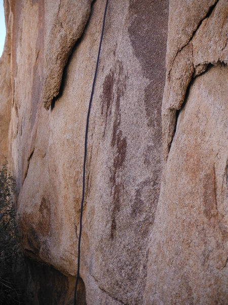 Rock Climbing Photo: crazy blood splatter on the start of the Orc, gnar...