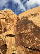 Rock Climbing Photo: Little Red dihedral