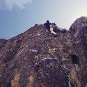 "Rock Climbing Photo: Last move on ""Espresso"" 5.10c"