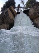 Rock Climbing Photo: Ice is pretty stepped and pocked out but still ver...