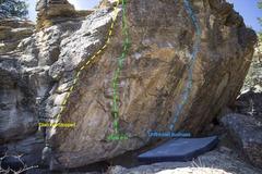Left end boulder problems.