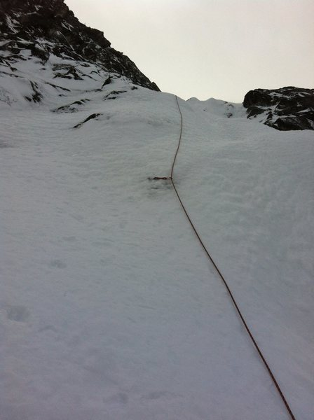 Rock Climbing Photo: Several pitches up the Gerber-Sink in good conditi...