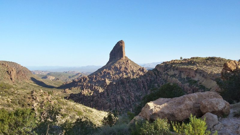 Rock Climbing Photo: Weavers Needle from Saddle of Peralta trail.