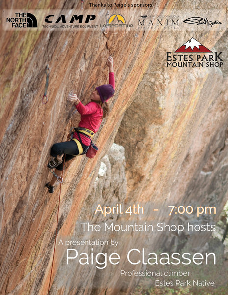 Rock Climbing Photo: Event flyer.