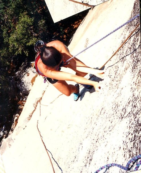 Rock Climbing Photo: Thi-Ly (read: Tee Lee) fully engaged with that pum...